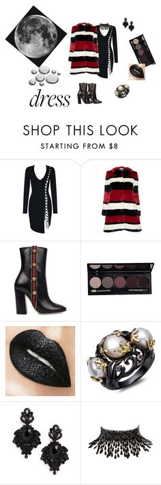 """""""Over the Moon"""" by pkgabriel ❤ liked on Polyvore featuring Alice + Olivia, Gucci, Tasha, Amrita Singh and longsleeve"""