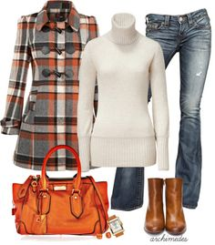 """Autumn Plaid"" by archimedes16 ❤ liked on Polyvore"