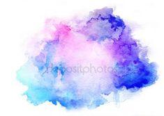 Stáhnout - Inkoust modrý akvarel zázemí — Stock obrázek #71339817