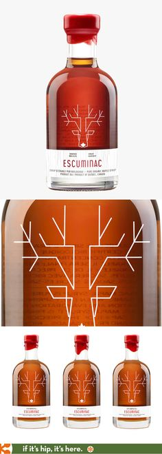 Escuminac Erable Merisier Maple Birch with beautiful bottle design by Chez Valois