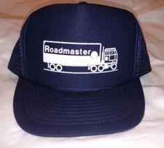 RARE-SEMI-ROADMASTER-TRUCKER-Hat-Nissun-Cap-Truck-Dark-BLUE-Snapback-Adjustable
