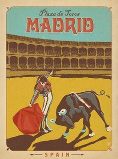 Madrid Bull Fighter Print.................http://www.pinterest.com/beatgrrrl/jet-set/