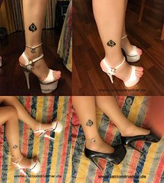 15 x Big Queen of Spades Tattoo in black - temporary Tattoo - Hotwife Tattoo - BBC Queen Of Spades Bbc, Queen Of Spades Tattoo, Spade Tattoo, Tattoo Kits, Club Tattoo, Anklet Tattoos, Stripper Heels, Ankle Jewelry, Tan Body