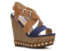 SM Sheek Wedge Sandal Womens Wedge Sandals Sandals Womens Shoes - DSW - womens black shoes on sale, fashion shoes for womens, womens wide width shoes Crazy Shoes, Me Too Shoes, Estilo Glamour, Shoe Boots, Shoes Heels, Ugg Boots, Mode Shoes, Beautiful Shoes, Wedge Sandals