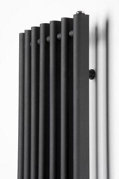Aeon Pitacs Ultraheat Trojan Vertical Designer Radiator Black Finish