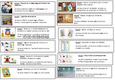 Une idée géniale pour organiser les ateliers d'inspiration Montessori School Organisation, Teacher Organization, Sensory Boards, Petite Section, Teaching Materials, Home Schooling, Teaching Kids, Back To School, Kindergarten