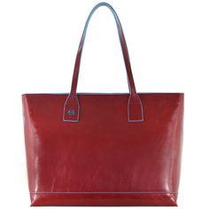 4e9aa30f25 Piquadro Blue Square Shopper Tasche Leder 35 cm für 234