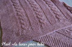 Blog laine tricot crochet   Planète Laine: Modèle gratuit: Plaid bébé en Alpaga et Muze de Plassard
