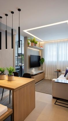 Amazing Apartment Design Collections You Have To Know - No matter if you are considering creating an office and need small apartment design tips to make it happen, or you are looking to update your current . Small Living Rooms, Home Living Room, Living Room Decor, Modern Interior Design, Interior Design Living Room, Living Room Designs, Small Living Room Design, Design Bedroom, Interior Paint
