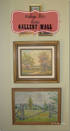 Vintage Wall Art {mini gallery wall} - Our Southern Home