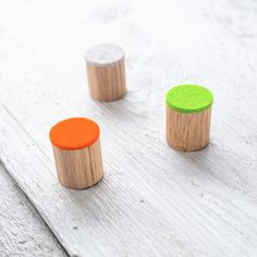 Magnete aus Holz, kleines Geschenk / little magnets made of wood made by haftbar, magnete und mehr via DaWanda.com