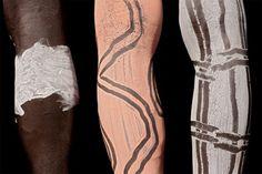 Africa | Details; Karo men's legs. Omo Valley Ethiopia | ©Benoît Feron