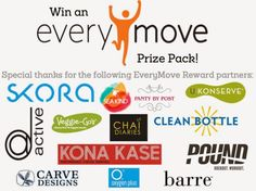 RUNNING WITH OLLIE: EveryMove: Good Things Come to Those Who Sweat Giveaway. Enter to win an EveryMove reward partners prize pack. Ends July 29 2014