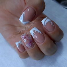 Nail Art Designs Videos, Nail Designs, Chic Nails, Gorgeous Nails, French Nails, Manicure And Pedicure, Acrylic Nails, Girly, Pretty