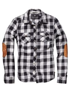 plaid flannel AND elbow patches? perfect fall shirt.