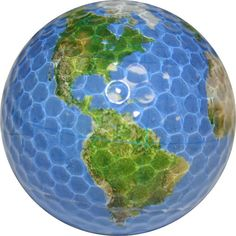 Opentip.com: Chromax Novelty Golf Balls Bulk--Globe