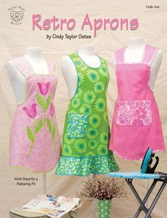 Retro aprons. Love! ...especially since I don't like anything around my neck