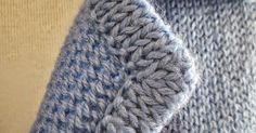 Ideas for crochet edging diagram posts crochet Knitting Basics, Knitting Stitches, Knitting Projects, Baby Knitting, Knitting Needles, Crochet Blanket Edging, Crochet Motifs, Knit Crochet, Crochet Hats