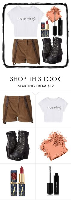 """""""#1185"""" by liccysilva ❤ liked on Polyvore featuring Blonde + Blonde, WithChic, Harley-Davidson, Bobbi Brown Cosmetics and Marc Jacobs"""