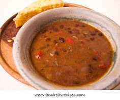 A tasty black bean soup with five kinds of peppers and ham, or skip the ham and make the vegan version.  (From Andrea Meyers via Slow Cooker from Scratch.)