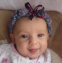 One of my FAVORITES!!   Navy Paisley really makes her blue eyes shine!  Carlykins Boutique Baby Girl Hair Bow by CarlykinsBoutique on Etsy, $5.25