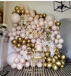Champagne bottle balloon wall for bachelorette party. This is perfect for any party but especially glam for a New Years Eve party. The confetti balloons really made this perfect. New Year's Eve balloons, champagne balloon wall Shower Party, Baby Shower Parties, Baby Shower Themes, Bridal Shower, Shower Ideas, Baby Shower Backdrop, Baby Showers, Birthday Party Decorations, Party Themes