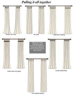1000 Images About Curtain Headings On Pinterest Box