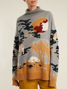 Click here to buy Barrie Kinoko landscape-intarsia cashmere sweater at MATCHESFASHION.COM