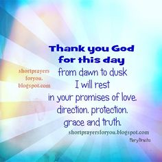Prayer for New Day | New day, new prayer thank you God for this day, free christian quotes ...