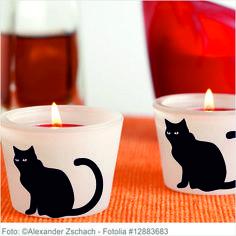 Sticker Halloween - Katzen 6er Set