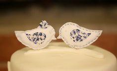 Mini wedding, mini casamento, rustico, rustic, azul, blue, decoraçao, decor, topo de bolo, cake topper, passarinhos, birds.