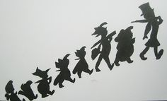 peter pan silhouette | peter pan silhouette drawing black ink white paper john darling ...