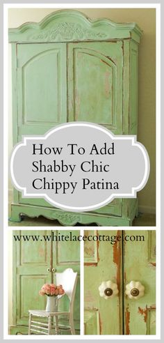 Shabby Chic Chippy Patina - White Lace Cottage