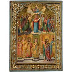 Ikone Russland, Ende 19. Jhdt.Heiligendarstellung. 24,5 x Russian Art, Painting, Russia, Auction, Art Production, Painting Art, Paintings, Painted Canvas, Drawings