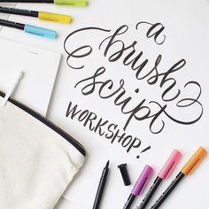 Pigma Professiona Brush is perfect for lettering announcements!