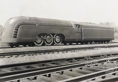 Stock Photo: 486-187 Train on a railroad track, Mercury Streamlined Steam Locomotive, New York Central Railroad