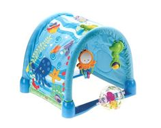 $30.09-$34.99 Baby Full of entertaining features, this activity gym grows with baby through three developmental stages. Stimulating patterns and activities invite baby to bat, grasp and kick. For tummy-time fun, attach toys to the mat to encourage reaching and pushing up. And when baby is ready, reconfigure the quilt and arches for a crawl-through play space. Machine washable, with arches remove ...