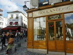 Le Fournil de village boulangerie in the Montmartre section of Paris.