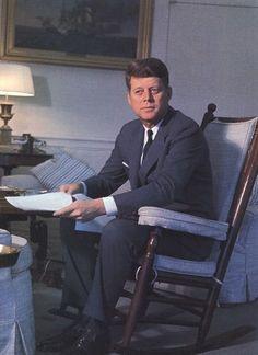 """JFK..In His Famous """"Kennedy Rocker""""...."""