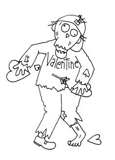 Free Dearie Dolls Digi Stamps: Valentine Zombie Boy....lol ya, I know not for everyone. Good for teens I bet tho!