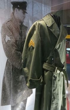 Elvis 1958 to 1960 rain coat , now in display at Graceland.