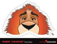 mayor lionheart-Mask-zootopia-zoomania-mascaras-printable-free-gratis-cumpleanos-fiesta
