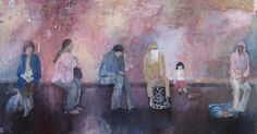 Willesden Junction Acrylics on canvas 100cm x 50cm 2010