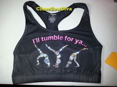 I will but lets wait a few months till i get more skills. Cheer Sports Bras, Cheer Bows, Cheerleading Bows, Cheer Practice, Cheer Quotes, Gymnastics Outfits, Cheer Outfits, Gym Shirts, Sport Wear