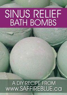 Sinus Relief Bath Bombs