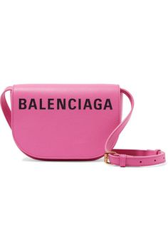 Get the trendiest Cross Body Bag of the season! The Balenciaga Shoulder XS Ville Day Aj Printed Textured-leather Cross Body Bag is a top 10 member favorite on Tradesy. Balenciaga Top, Balenciaga Womens, Pink Shoulder Bags, Leather Shoulder Bag, Leather Saddle Bags, Leather Crossbody Bag, Straw Tote, Bag Making, Purses And Bags