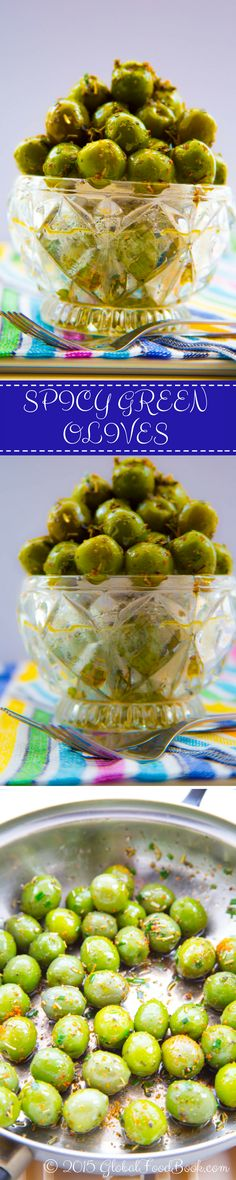 DELICIOUS SPICY GREEN OLIVES