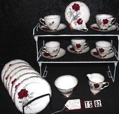 Royal Stafford Fine Bone China Roses to Remember Pattern 1992 Tea Set TS82