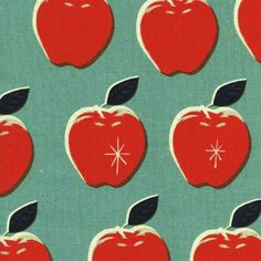 Cotton & Steel by Melody Miller, Picnic Linen Canvas - Blue/Red - $20/yard