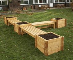 Bench and planters